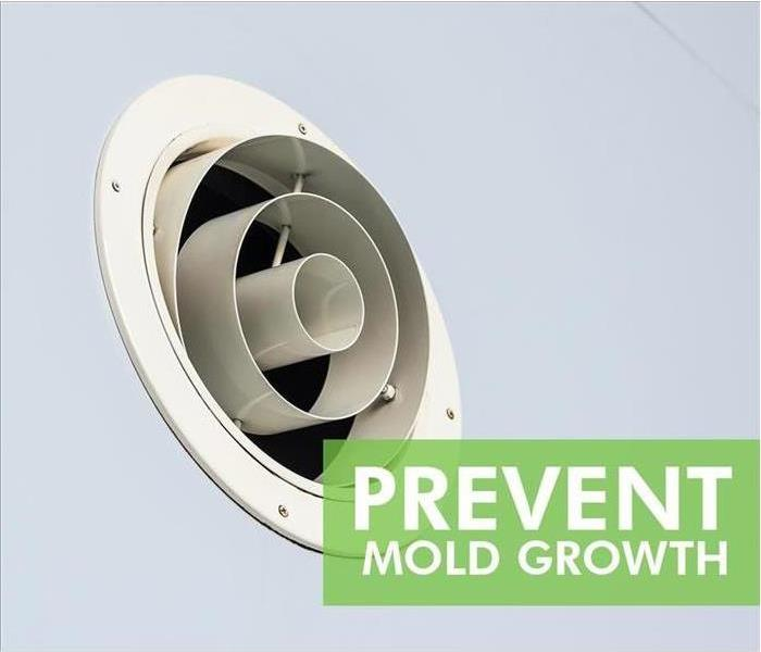 Vent/fan that helps prevent mold