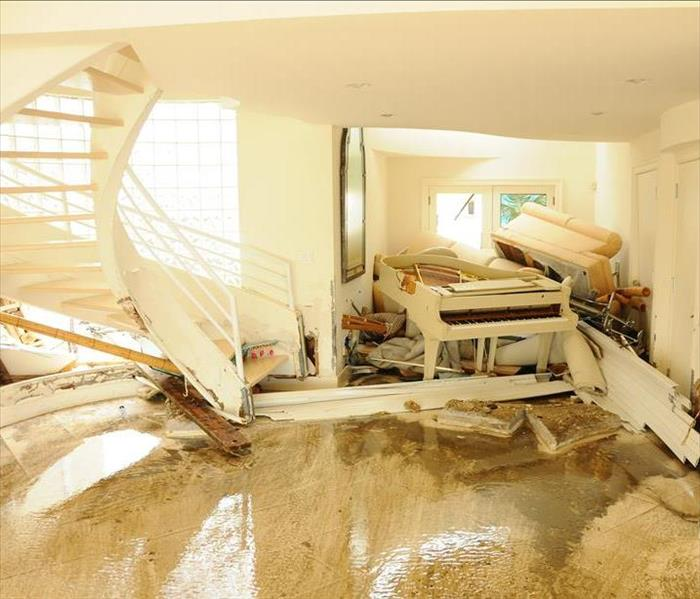 Storm Damage Water damage Melbourne - flood waters penetrate a home